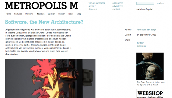 Metropolis M - Software The New Architecture
