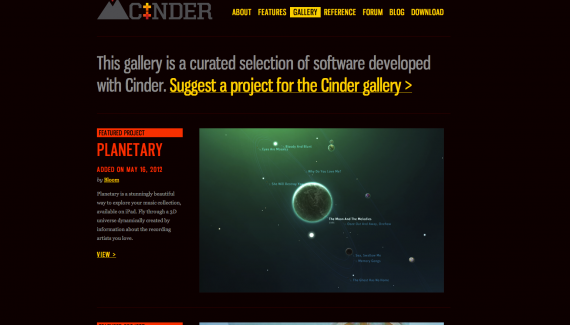 Cinder is a community-developed, free and open source library for professional-quality creative coding in C++. http://libcinder.org/