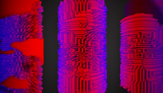 Imagery from Elektropastete & Raphael de Courville's 'Fifty Shades of Shaders' workshop.
